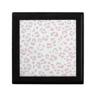 baby pink cheetah animal jungle print gift box