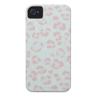 baby pink cheetah animal jungle print iPhone 4 covers