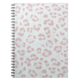 baby pink cheetah animal jungle print notebooks