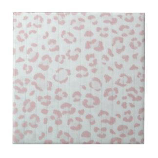 baby pink cheetah animal jungle print small square tile