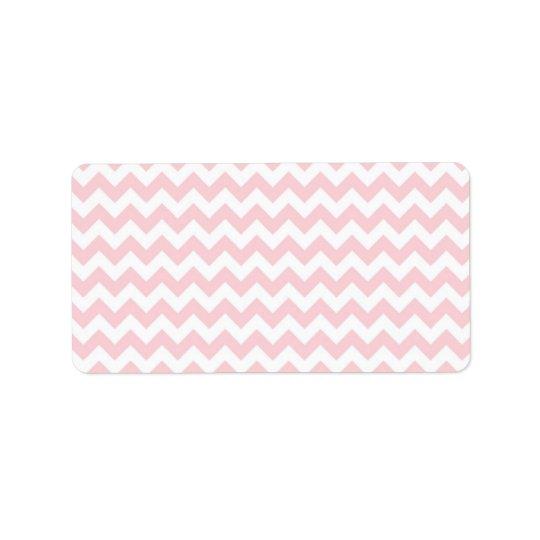 Baby Pink Chevron Address Label