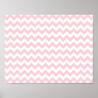 Baby Pink Chevron Print