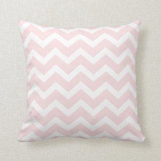 Baby Pink Chevron Stripe Pillow