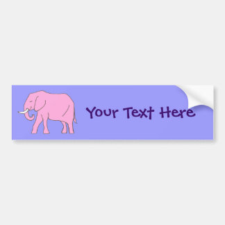 Baby Pink Elephant Walking Bumper Sticker