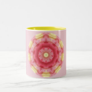 Baby Pink Fractal Two-Tone Coffee Mug