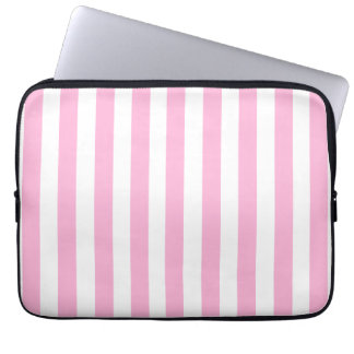 BABY PINK FUN BOLD STRIPES PATTERN LAPTOP SLEEVES
