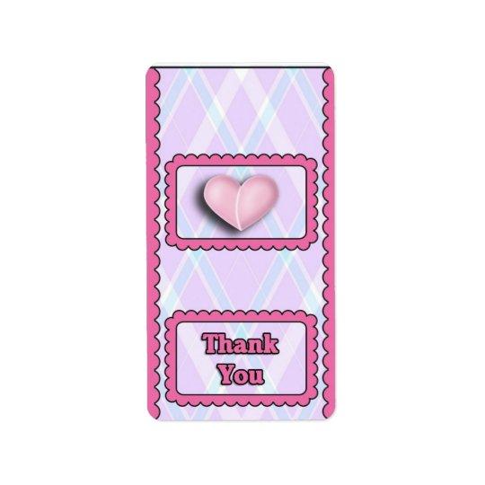 Baby Pink Girl Hersheys Miniature Candy bar wrap Label