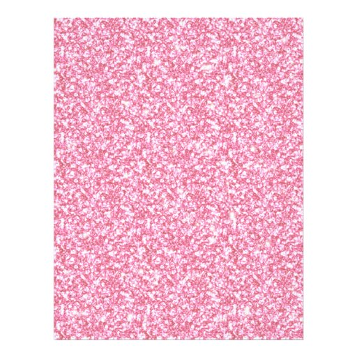Baby pink glitter printed personalized flyer