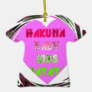 Baby Pink  Hearts Hakuna Matata Baby Kids Design.p Ceramic T-Shirt Decoration