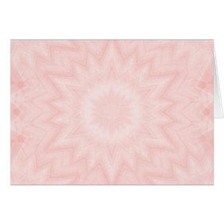Baby pink kaleidoscope greeting card