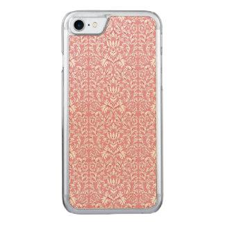 Baby Pink Kawaii Damask Carved iPhone 7 Case
