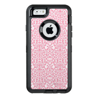 Baby Pink Kawaii Damask OtterBox Defender iPhone Case