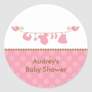 Baby Pink Laundry Line Stickers