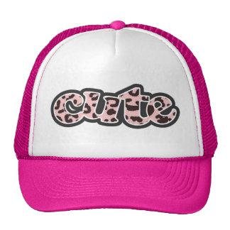 Baby Pink Leopard Animal Print Trucker Hat