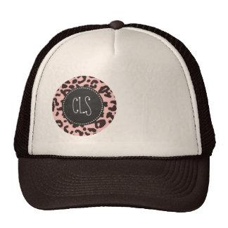 Baby Pink Leopard Animal Print; Chalkboard Trucker Hat