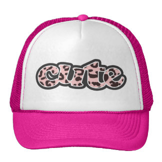Baby Pink Leopard Animal Print Mesh Hat