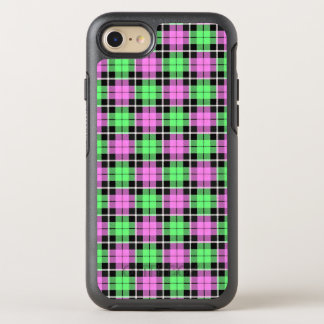 Baby pink/Light green plaid white stripe OtterBox Symmetry iPhone 8/7 Case