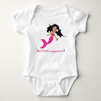 Baby Pink Mermaid Baby Bodysuit