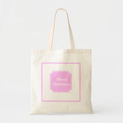 Baby Pink Merry Christmas Holiday  Tote Bag