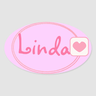 baby pink name sticker