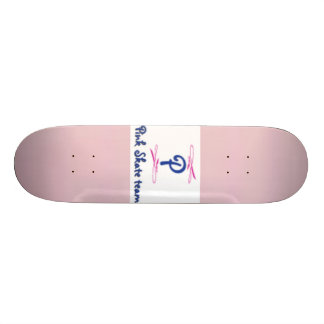 baby pink, Pink skate team logo 18.4 Cm Mini Skateboard Deck