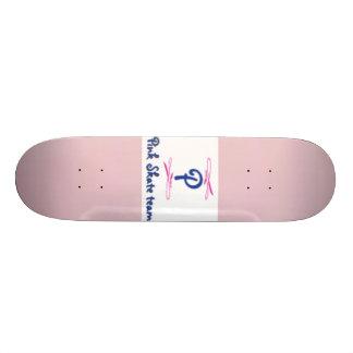 baby pink, Pink skate team logo Custom Skate Board