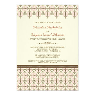 Baby Pink Queen Anne's Lace Wedding Invitation