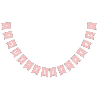 Baby Pink Solid Color Customize It Bunting