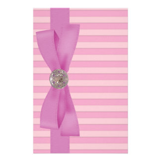 Baby Pink Stripes Elegance Paper