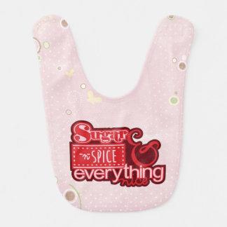 Baby Pink Sugar and Spice Everything Nice Bib