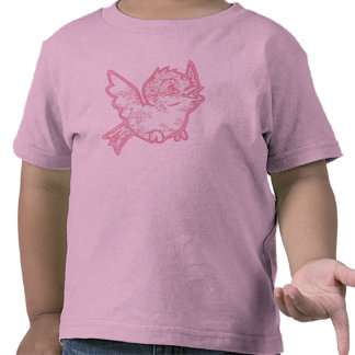 Baby Pink Toille Bird t-shirt