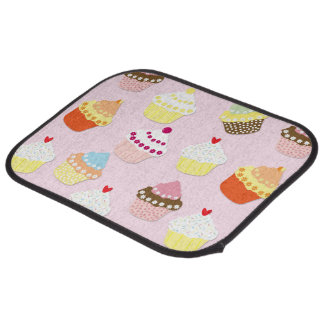 Baby Pink Valentines Cup Cakes Car Mat