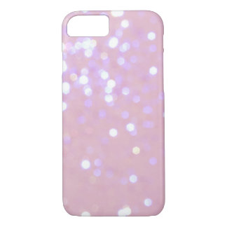 Baby Pink/White Glitter iPhone 7 case