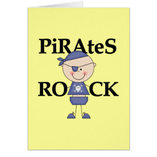 Baby Pirates Rock Tshirts and Gifts Card