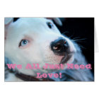 Baby Pit Bull Puppy Card