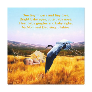 Baby poem canvas print