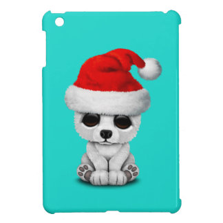 Baby Polar Bear Wearing a Santa Hat iPad Mini Cover