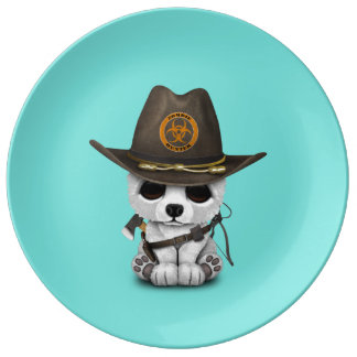 Baby Polar Bear Zombie Hunter Plate