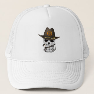 Baby Polar Bear Zombie Hunter Trucker Hat