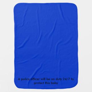 Baby police blanket receiving blanket