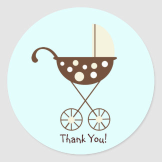 Baby Pram Yellow Sticker