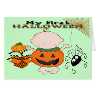 Baby Pumpkin My 1st Halloween Greeting Card