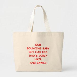 baby pun jumbo tote bag