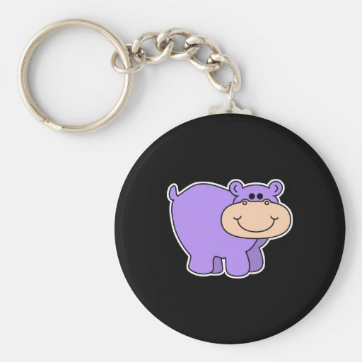 baby purple hippo key chains