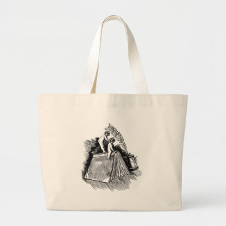 Baby Putto and Books Jumbo Tote Bag