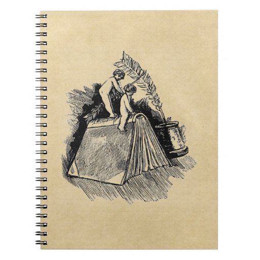 Baby Putto and Books Note Book