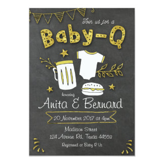 Baby Q Coed baby shower invitation