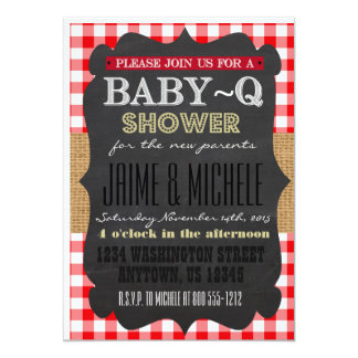 Baby-Q Invitation 5x7