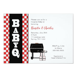 Baby Q Shower, couples BBQ baby shower Card