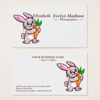 baby rabbit 765 business card